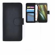Motorola Moto E 3rd gen - Smartphonehoesje Wallet Bookstyle Case Lederlook Zwart
