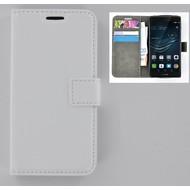 Huawei P9 Plus - Smartphonehoesje Wallet Bookstyle Case Lederlook Wit