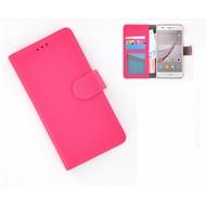Huawei Nova - Smartphonehoesje Wallet Bookstyle Case Lederlook Roze