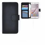 Huawei Nova - Smartphonehoesje Wallet Bookstyle Case Lederlook Zwart