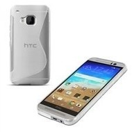 HTC One S9 - Smartphone Hoesje Tpu Siliconen Case S-Style Transparant