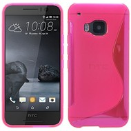 HTC One S9 - Smartphone Hoesje Tpu Siliconen Case S-Style Roze