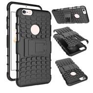 Apple iPhone 6s Plus - Shockproof Case Cover Tweedelige Smartphone Hoesje Zwart