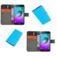 Samsung Galaxy J3 Pro - Smartphone Hoesje Wallet Bookstyle Case Lederlook Turquoise