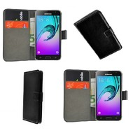 Samsung Galaxy J3 Pro - Smartphone Hoesje Wallet Bookstyle Case Lederlook Zwart