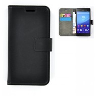 Sony Xperia M5 - Smartphone Hoesje Wallet Bookstyle Case Lederlook Zwart