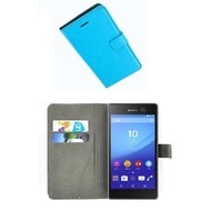 Sony Xperia M5 - Smartphone Hoesje Wallet Bookstyle Case Lederlook Turquoise