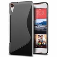 HTC Desire 830 - Smartphone Hoesje Tpu Siliconen Case Hoesje S-Style Zwart