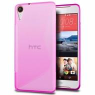 HTC Desire 830 - Smartphone Hoesje Tpu Siliconen Case Hoesje S-Style Roze