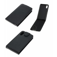 Sony Xperia XZ - Flip Case Cover Smartphone Hoesje Lederlook Zwart