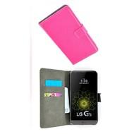 LG G5 - Smartphone Hoesje Wallet Bookstyle Case Lederlook Roze