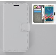 Samsung Galaxy J5 Prime - Smartphone Hoesje Wallet Bookstyle Case Lederlook Wit