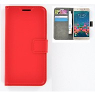 Samsung Galaxy J7 Prime - Smartphone Hoesje Wallet Bookstyle Case Rood