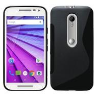 Motorola Moto X Style - Smartphone Hoesje Tpu Siliconen Case Zwart