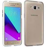 Samsung Galaxy J2 Prime Tpu Siliconen Case Hoesje Transparant