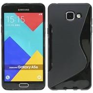 Samsung Galaxy A5 (2016) - Tpu Siliconen Case Hoesje S-Style Zwart