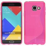 Samsung Galaxy A3 (2016) - Tpu Siliconen Case Hoesje S-Style Roze