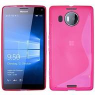 Microsoft Lumia 950 XL - Tpu Siliconen Case Hoesje S-Style Roze