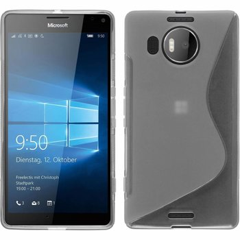 Microsoft Lumia 950 XL - Tpu Siliconen Case Hoesje S-Style Transparant