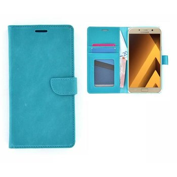 3ab8ddadaea Samsung Galaxy A5 (2017) Lederlook Portemonnee Hoesje Wallet Book Case  Turquoise
