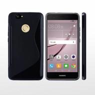 Huawei Nova Hoesje Tpu Siliconen Case S-Style Zwart