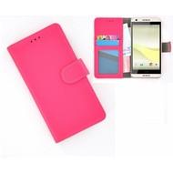 HTC Desire 650 Portemonnee Hoesje Wallet Book Case Roze