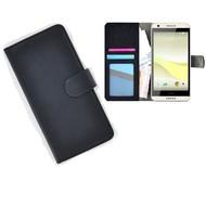 HTC Desire 650 Portemonnee Hoesje Wallet Book Case Zwart