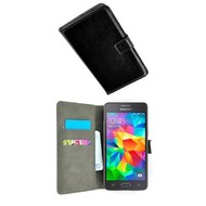 Wallet Book Case Hoesje voor Samsung Galaxy Grand Prime Plus - Zwart