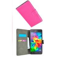 Wallet Book Case Hoesje voor Samsung Galaxy Grand Prime Plus - Roze