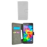Wallet Book Case Hoesje voor Samsung Galaxy Grand Prime Plus - Wit