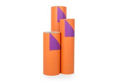Kadopapier 30/50 cn 200 meter 2 kleuren oranje/paars