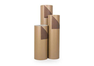 Kadopapier 30/50 cm 200 meter 2 kleuren goud/bruin