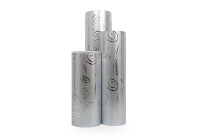 Kadopapier 30/50 cm 150 meter metallic dessin zilver