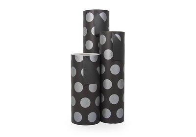 Kadopapier 30/50 cm 200 meter 2 kleuren zwart/zilver