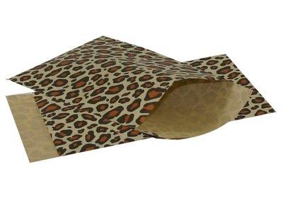 Luxe Kraft Design tijger zakjes á 250 stuks