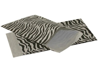 Luxe Kraft Design zebra zakjes á 250 stuks
