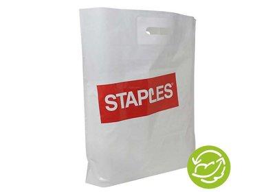 Plastic draagtas bedrukt met uw logo ca. 6 á 8 weken