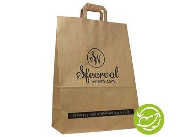 Gerecycled papieren draagtas bedrukt met uw logo ca.6 á 8 weken