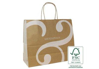 FSC papieren draagtas bedrukt met uw logo ca. 6 á 8 weken