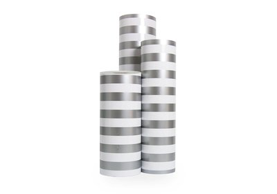 Kadopapier 30/50 cm 200 meter streep-zilver