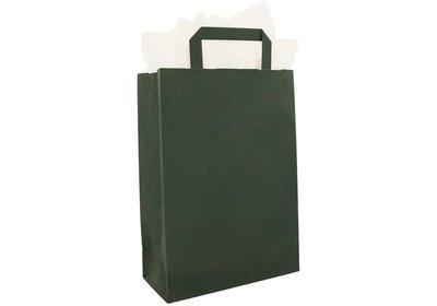 Papieren lus draagtas donkergroen