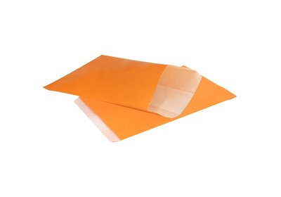 Papieren Kraft zakjes á 1000 stuks oranje