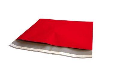Plastic verzendzak rood