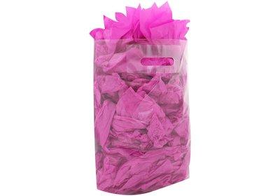 Plastic draagtas met gestanste handgreep transparant