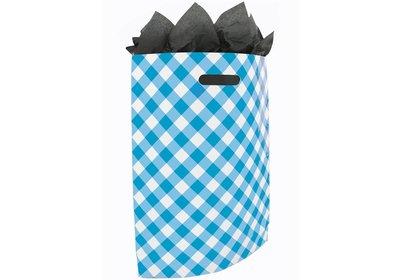 Plastic draagtas SALE Brabant bont blauw