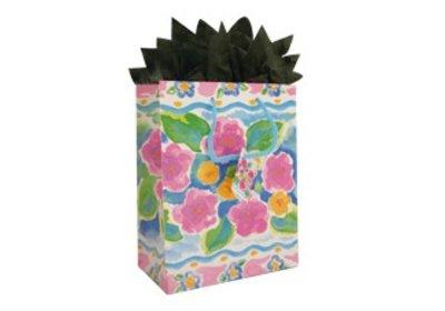 Papieren koorddraagtassen bloem SALE