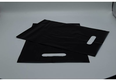 Plastic draagtas zwart SALE