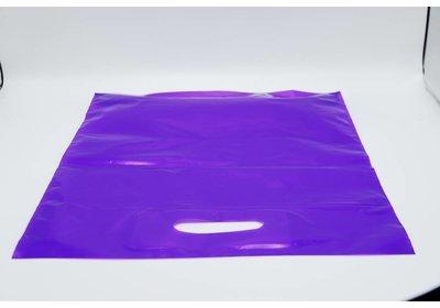 Plastic draagtas Lila SALE  á 1.000 stuks