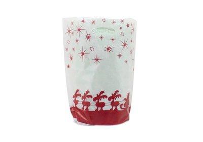 Plastic kerst draagtassen special edition