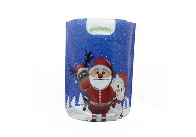 Plastic kerst draagtassen chritmas friends